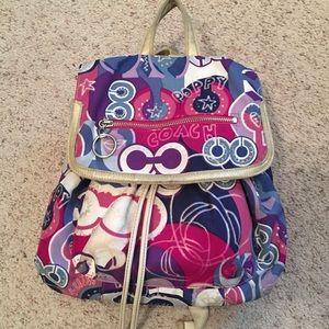 COACH Poppy Backpack Purse/bag